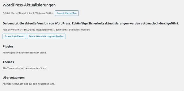 Wordpress, Drupal, Joomla aktuell halten
