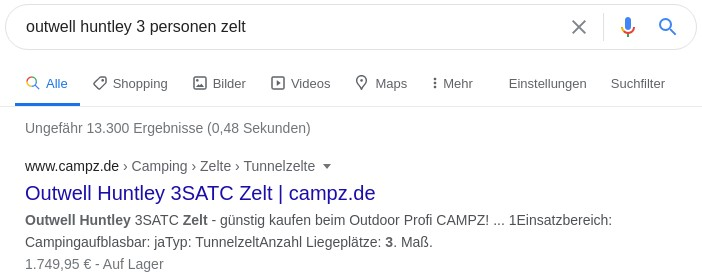 Suchergebnisse bei Google mit optimiertem Titel