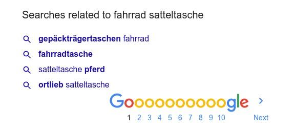 Ähnliche Suchen bei Google