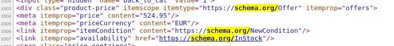 Schema.org Elemente