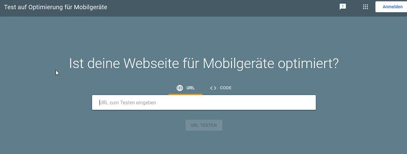 Website Test für mobile Geräte